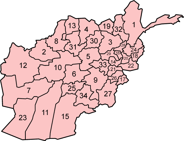 Afghanistan_provinces_numbered