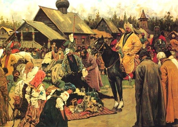 """""""Баскаки"""" - картина С.В. Иванова (1909 г)"""