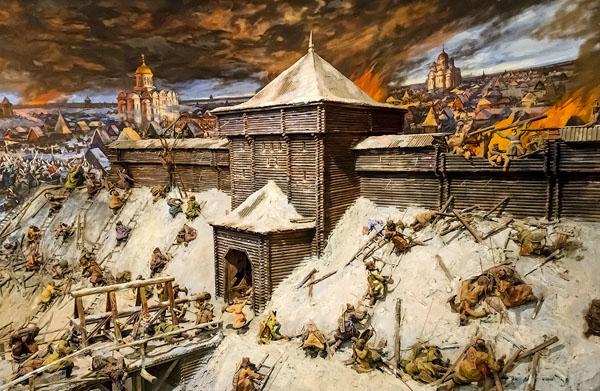 Фрагмент диорамы «Оборона Старой Рязани от нашествия хана Батыя 1237 года»
