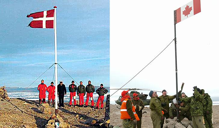canadian-danish-flags-hans-island